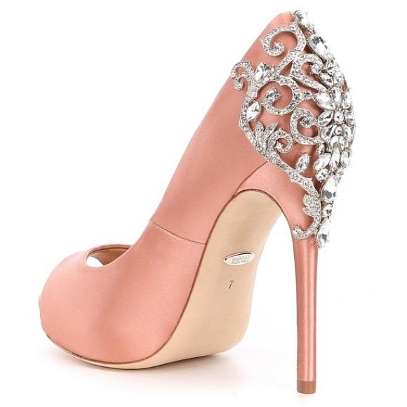 1d6b4e8b50 Badgley Mischka Shoes - Badgley Mischka Karolina Rose Embellished Heels